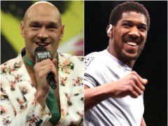 Tyson Fury and Anthony Joshua (Bradley Collyer/Nick Potts/PA)