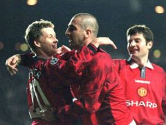 Former Manchester United captain Eric Cantona has backed current manager Ole Solskjaer (left) to lead the club to the Premier League title (David Kendall/PA)