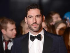 Tom Ellis was shaved on Snowdon by a barber in London (Dominic Lipinski/PA)