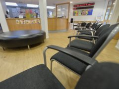 Empty chairs in the waiting room at the Temple Fortune Health Centre GP Practice near Golders Green, London (PA)