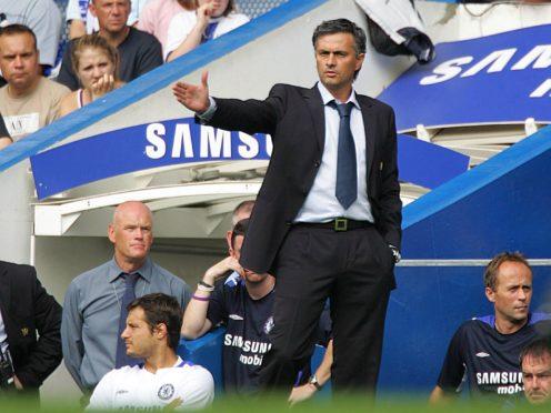 Jose Mourinho on the touchline at Stamford Bridge (Nick Potts/PA)