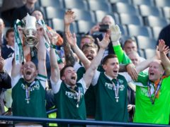 Several of Hibernian's Scottish Cup winners are still at the club (Jeff Holmes/PA)