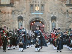 The massed pipes and drums during the Royal Edinburgh Military Tattoo (Jane Barlow/PA)