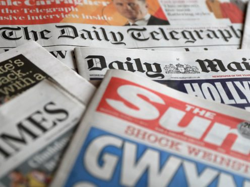 What the papers say – May 15 (PA)
