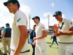 Josh Hazlewood (left), Pat Cummins (centre) and Mitchell Starc (right) have denied knowledge of the sandpaper plot (Jason O'Brien/PA)