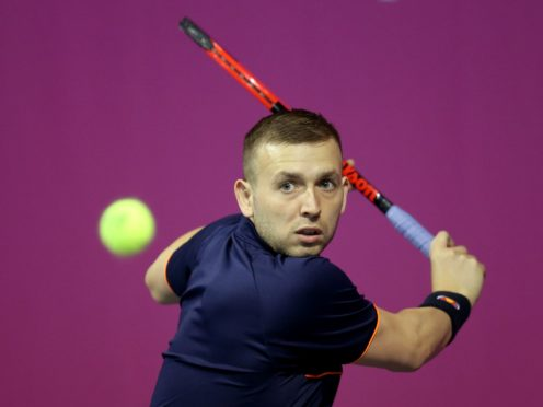 Dan Evans was knocked out of the Madrid Open (Jane Barlow/PA)