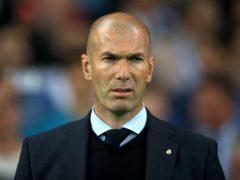 Zinedine Zidane did not say whether he would be at Real Madrid next season (Nick Potts/PA)