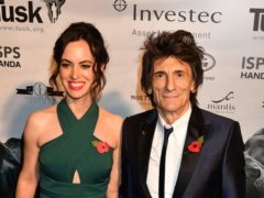 Sally and Ronnie Wood (John Stillwell/PA)