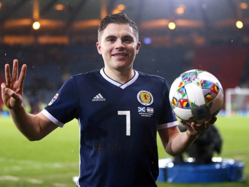 James Forrest's hat-trick against Israel proved crucial (Jane Barlow/PA)