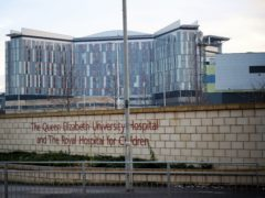 The infections are linked to the water supply at the Queen Elizabeth University Hospital (Jane Barlow/PA)