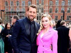 Chris Robshaw and Camilla Kerslake (Ian West/PA)