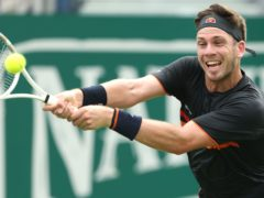 Cameron Norrie, pictured, was defeated by Stefanos Tsitsipas in Lyon (Steven Paston/PA)