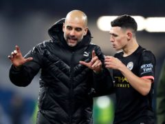 Phil Foden, right, is thriving under Pep Guardiola (Martin Rickett/PA)