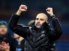 Manchester City manager Pep Guardiola saw his side again dominate their Premier League title rivals (Martin Rickett/PA)