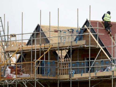 Construction activity continued to rebound in April according to new figures (Gareth Fuller/PA)