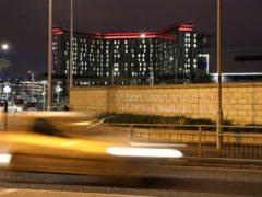 The biker was taken to Queen Elizabeth University Hospital (Andrew Milligan/PA)