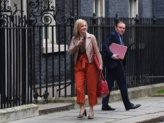 International Trade Secretary Liz Truss and Environment Secretary George Eustice (Victoria Jones/PA)