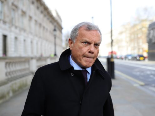 S4 Capital, the digital advertising agency run by Sir Martin Sorrell, has upped its full-year revenues outlook after surging first-quarter sales (Aaron Chown/PA)