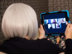 Older people have been using Zoom and other apps to keep in touch during lockdown (Dominic Lipinski/PA)