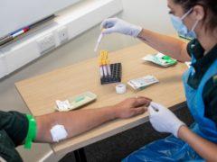 Blood test (Simon Dawson/PA)