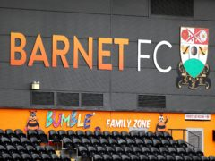 Barnet will not be relegated despite finishing in the bottom three (Mike Egerton/PA)