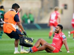 Manu Tuilagi suffered an Achilles injury in Sale's match at Northampton in September (Tim Goode/PA)