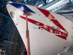 The largest cruise ship built for the UK market arrives in Southampton on Sunday ahead of its naming ceremony (P&O/PA)
