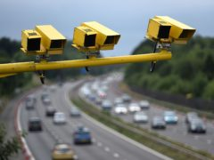 File photo dated 28/06/15 of three SPECS Average Speed cameras in position on the M3 motorway in Hampshire. One in six (18 percent) drivers admits to speeding above 100mph, a new survey suggests.