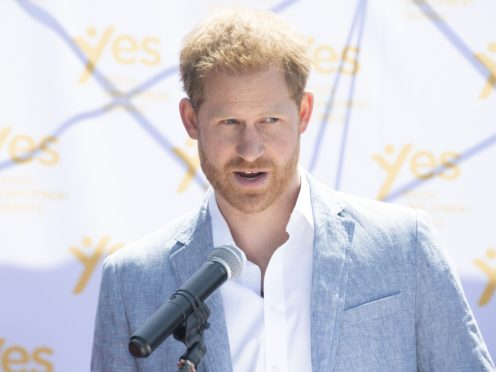 The Duke of Sussex said he used alcohol to 'mask' his emotions (Facundo Arrizabalaga/PA)