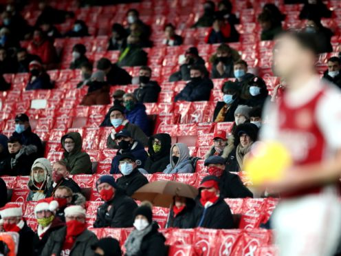 Fans will be back at sporting venues from today (Nick Potts/PA)