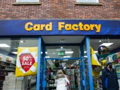 Retailer Card Factory has completed a £225 million refinancing move (Barrington Coombs/PA)