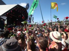 The regular Glastonbury Festival usually takes place in June and attracts around 200,000 people (Yui Mok/PA)