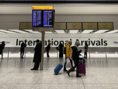 Heathrow Airport lost nearly 6.3m passengers in April compared with the same month in 2019, new figures show (Kirsty O'Connor/PA)