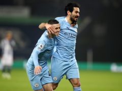 Ilkay Gundogan, right, has been impressed by Phil Foden's form this season (Nick Potts/PA)