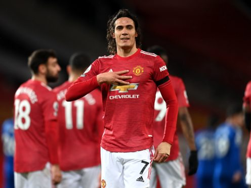 Edinson Cavani has scored 16 goals for Manchester United this season (Michael Regan/PA)