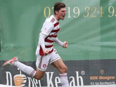 Ross Callachan scored as Hamilton claimed a vital victory at St Mirren (Jane Barlow/PA)