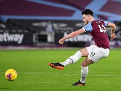 Declan Rice is close to returning for West Ham (Justin Setterfield/PA)