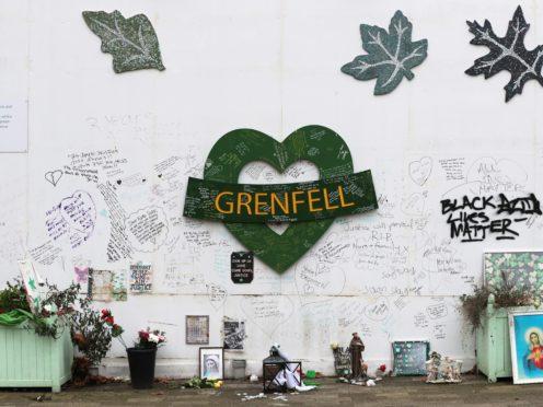 The Grenfell Memorial Wall (Jonathan Brady/PA)