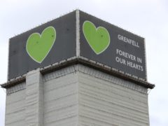 Grenfell Tower after the fire (Jonathan Brady/PA)