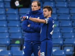 "Cesar Azpilicueta, right, has been hailed as a ""key"" component of Chelsea's resurgence under Thomas Tuchel (Andy Rain/PA)"