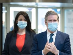 Sir Keir Starmer with Rachel Reeves, who has been promoted to shadow chancellor (PA)