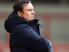 Derek Adams has Morecambe pushing for automatic promotion going into the final day of the season (Tim Markland/PA)