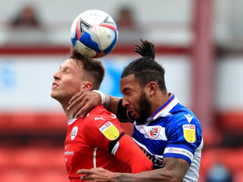 Reading skipper Liam Moore, right, could return in his side's last game of the season (Mike Egerton/PA)