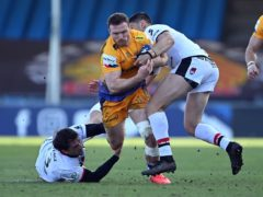 Sam Simmonds, centre, has earned a Lions place on the back of his strong running and try-scoring (Simon Galloway/PA)