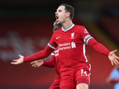 Captain Jordan Henderson will miss the rest of Liverpool's season but could be fit for England's Euro 2020 campaign (Laurence Griffiths/PA)