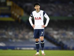 Tottenham forward Son Heung-min was targeted by online abuse (Peter Powell/PA)