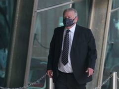Retired solicitor Peter Metcalf is on trial accused of doing acts tending or intended to pervert the course of justice (Peter Byrne/PA)
