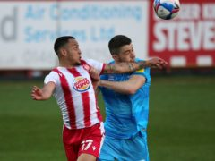 Elliott List (left) was Stevenage's match-winner at Scunthorpe (Simon Cooper/PA)