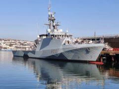 Patrol ship HMS Tamar has been deployed (MoD/PA)