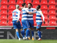 Charlie Austin (centre) and Osman Kakay (right) were on target for QPR (Martin Rickett/PA)